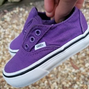 VANS Purple Canvas slip-on Toddler Size 5